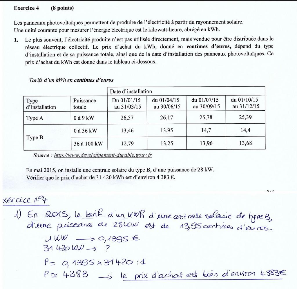 Examen de trigonométrie et calcul numérique
